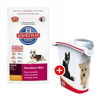 Hill's Canine Adult Sensitive Skin 12kg + Futtertonne