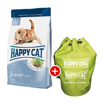 Happy Cat Supreme Junior 10kg + Seesack gratis