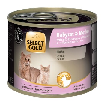 Babycat & Mother Soft Mousse Huhn 6x200g