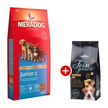 Dog Junior 2 12,5kg + Meradog Fein Gemacht Merado Mix 400g gratis