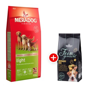 Dog Light 12,5kg + Meradog Fein Gemacht Merado Mix 400g gratis