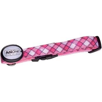 AniOne LED-Leuchthalsband Pink L