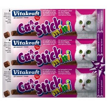 Cat-Stick mini 3 Stück Kabeljau & Thunfisch