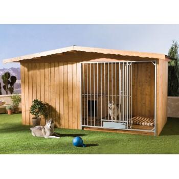 Hundezwinger Charly mit Hundehütte 400 x 300 x 225 cm mit Bodenplatte