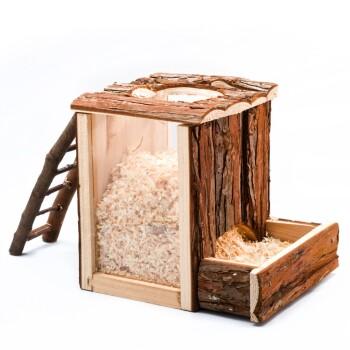 Wieża do kopania z naturalnego drewna 25 x 24 x 20 cm