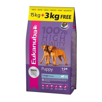 Puppy und Junior große Rassen 15 kg + gratis 3kg