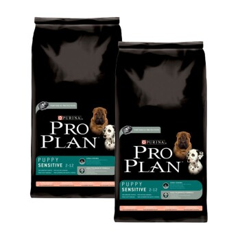 Pro Plan Dog Puppy Sensitive reich an Lachs & mit Reis Sparpaket 2x14kg