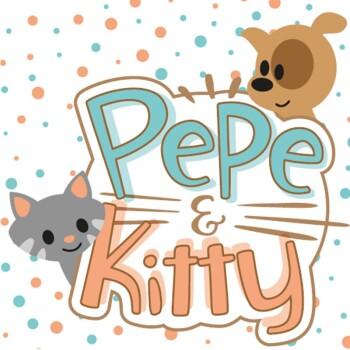 Knuffelkussen Pepe&Kitty Ster